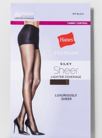 db5e32f804e Hanes Premium Black Control Top Panty Hose